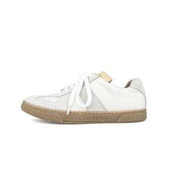 REAL LEATHER TRAINER - vintage (white)