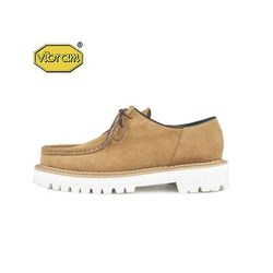WHITE OVER SOLE TIROLEAN SHOES (camel)