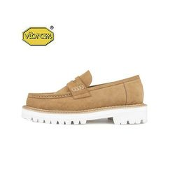 WHITE OVER SOLE PENNY LOAFERS (camel)