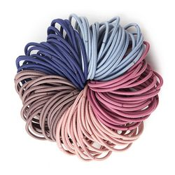 매듭없는 컬러머리끈 5색 100P