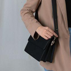 (달거울 탄생석) Two way Bag (M) - Black