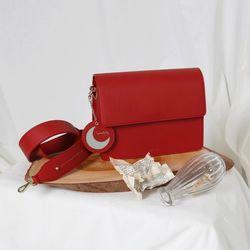 (달거울 탄생석) Two way Bag (M) - Red