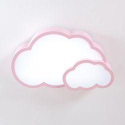더블 구름 LED 방등 50W 핑크
