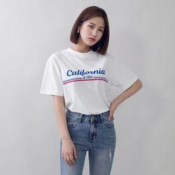 [로코식스] 포인트 빅 레터링 티셔츠