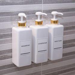 욕실 디스펜서 호텔 샴푸통 리필 용기 정리후크