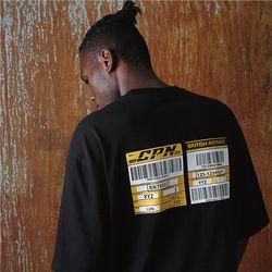 [16수] 헤비 오버핏 express barcode 블랙