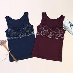 Two-tone Color Lace 텐셀(TENCEL)섬유 브라런닝