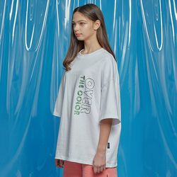 DAILY EMBO POINT OVERSIZED TEE WHITE