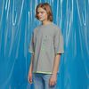 DAILY EMBO POINT OVERSIZED TEE GRAY