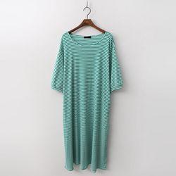 Stripe Long Dress - 7부소매