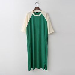 Cotton Baseball Long Dress