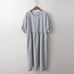 Gingham Puff Dress