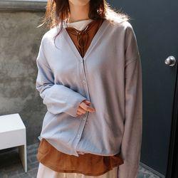 v-neck wool cardigan (5colors)