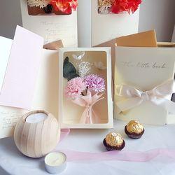 특별한 선물 카네이션 패키지-비누꽃 카네이션북 (핑크)
