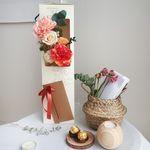 특별한 선물 카네이션 패키지-비누꽃 조화 카네이션 삼각롱팩