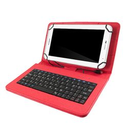TCB 태블릿PC 케이스 키보드 7-8인치 스칼렛