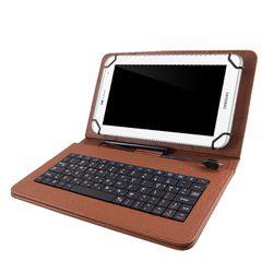 TCB 태블릿PC 케이스 키보드 7-8인치 브라운