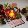 성탄절 벽난로카드 5set