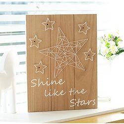 우드 LED 벽장식 - 스타