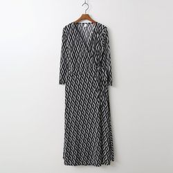 Oblique Wrap Long Dress - 긴팔