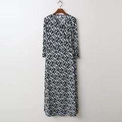 Peacock Wrap Long Dress - 긴팔