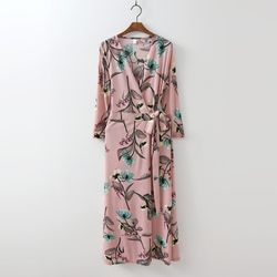 Peony Wrap Long Dress - 긴팔