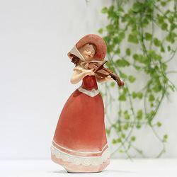 플로랄 소녀 장식 바이올린