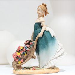 플로랄 소녀 장식 꽃수레