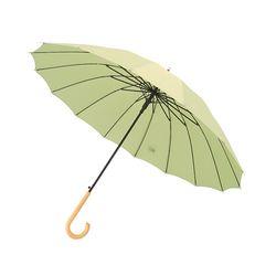 크로반 튼튼한 장우산 모던파스텔 곡자 우드그립 KR3
