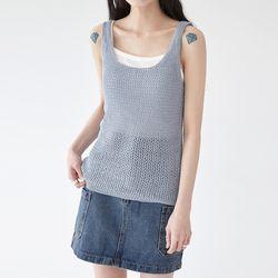 wood knit sleeveless