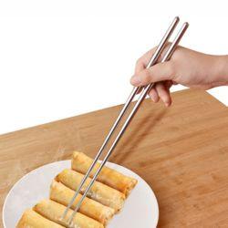 진공 스텐 튀김젓가락(36cm) (원형)