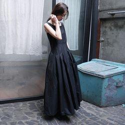 crispy texture frill dress