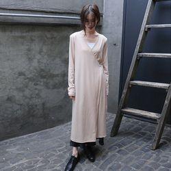 lap n rib detail dress (3colors)