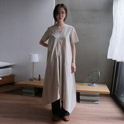 v-neck half dress (3colors)
