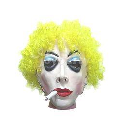 파티용품 담배피는여자가면