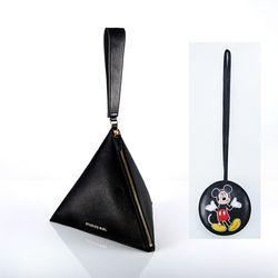 [디즈니 가죽 참 5종 택1] 피라미드 가방(Black) F