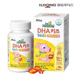 일동후디스 DHA 키즈 식물성 오메가3 츄어블 1병 (60캡슐)