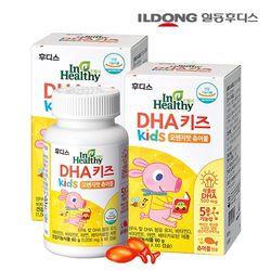 일동후디스 DHA 키즈 식물성 오메가3 츄어블 2병 (120캡슐)
