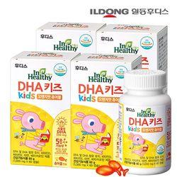 일동후디스 DHA 키즈 식물성 오메가3 츄어블 4병 (240캡슐)