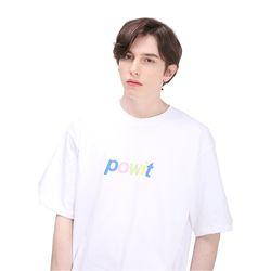 포윗 멀티 컬러 로고 티셔츠(화이트)