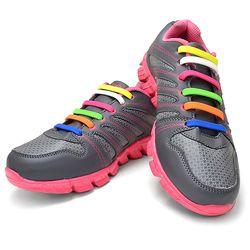 매듭이 필요없는 앙커타입 실리콘 신발끈 1세트 16P