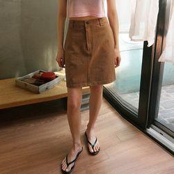 stitch detail mini skirts (2colors)