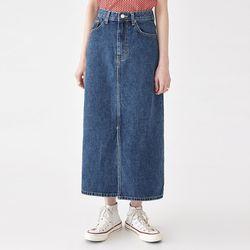 papper deep denim skirt (s m)