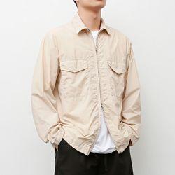 인비트윈 지퍼 셔츠 베이지
