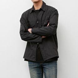 인비트윈 지퍼 셔츠 블랙
