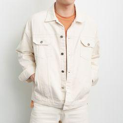 오버핏 트윌 트러커 자켓