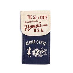 Hawaiian Design Toilet Paper Holder Cover NAVY