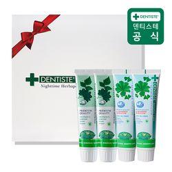 덴티스테치약 선물세트 4P(플러스화이트100gX2+센서티브100gX2)