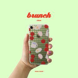 [뮤즈무드] brunch (clear) 아이폰케이스