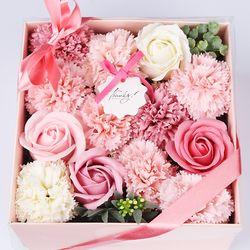 [더로라]꽃다발 선물 박스 - 장미 카네이션 PULL바스켓 MUU904
